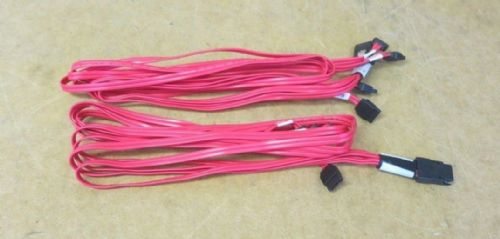 2x  1m Molex 79576-3007 Mini SAS SFF-8087 4 SATA iPass to Backplane Pinout Cable
